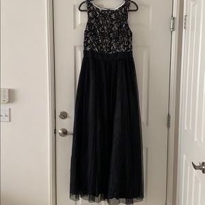 Beautiful black and white evening gown never worn